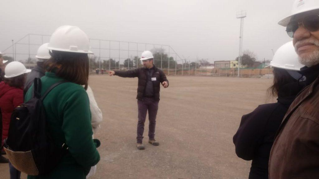 Liceo Gabriela Mistral participa en el recorrido del Proyecto Construcción Mirador Viejo.