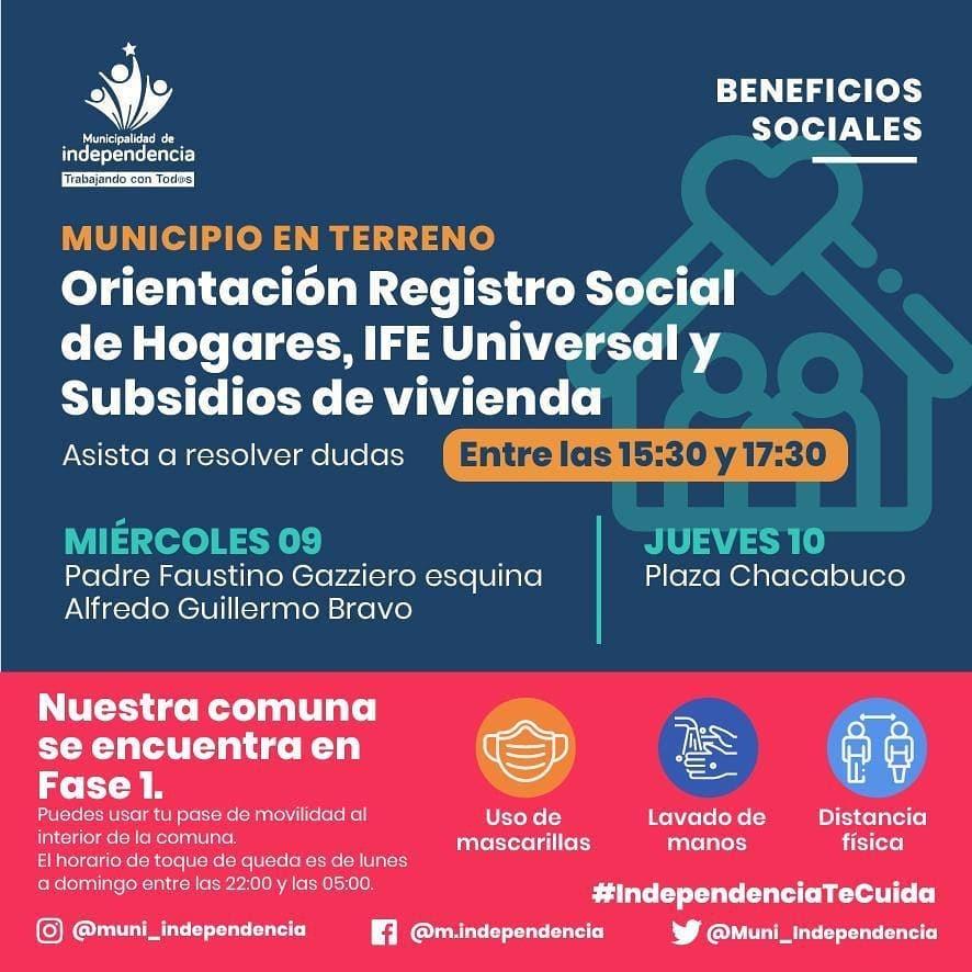 BENEFICIOS SOCIALES MUNICIPALIDAD DE INDEPENDENCIA