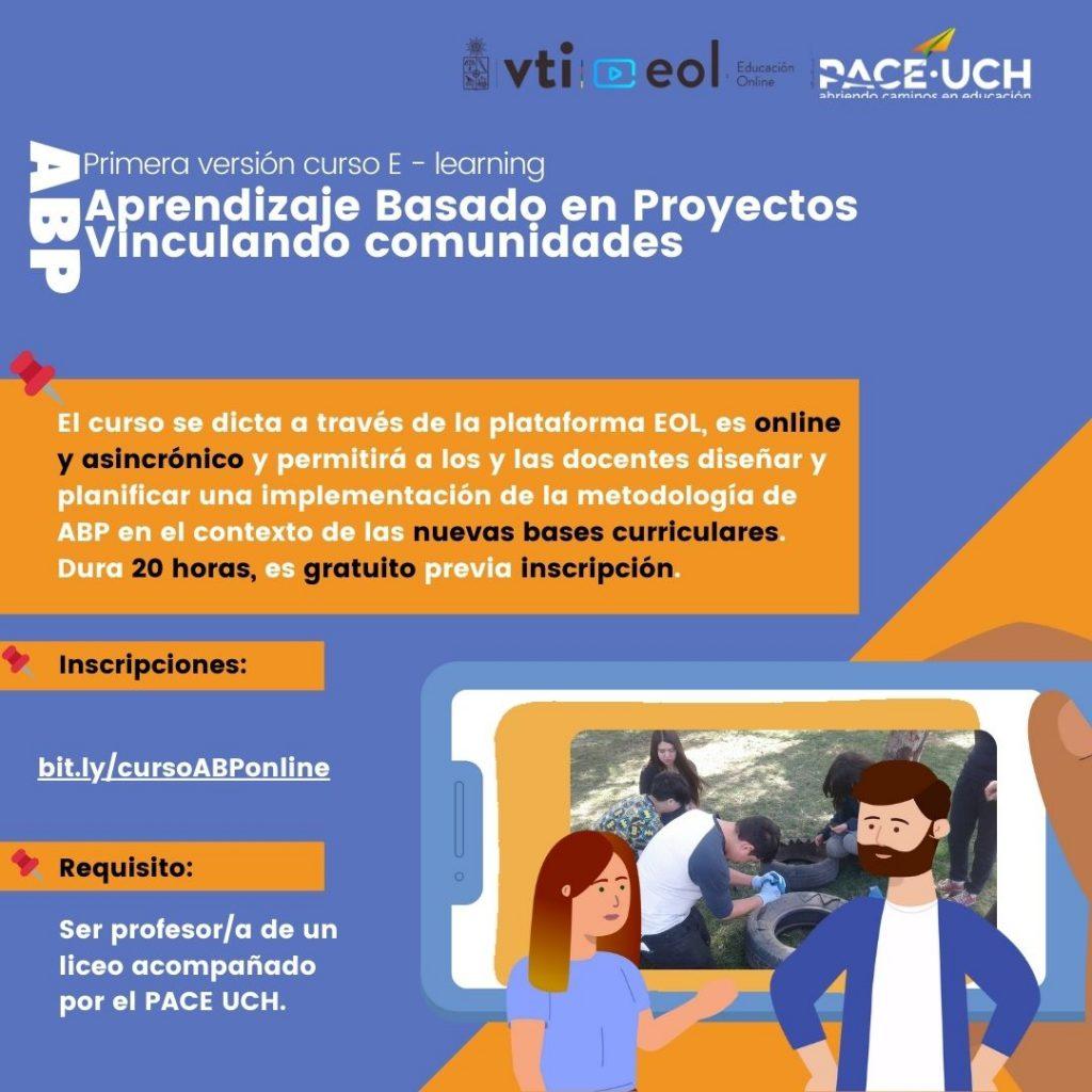 """Formulario de inscripción curso docente en plataforma EOL UCH """"Aprendizaje Basado en Proyectos. ABP: Vinculando Comunidades"""""""