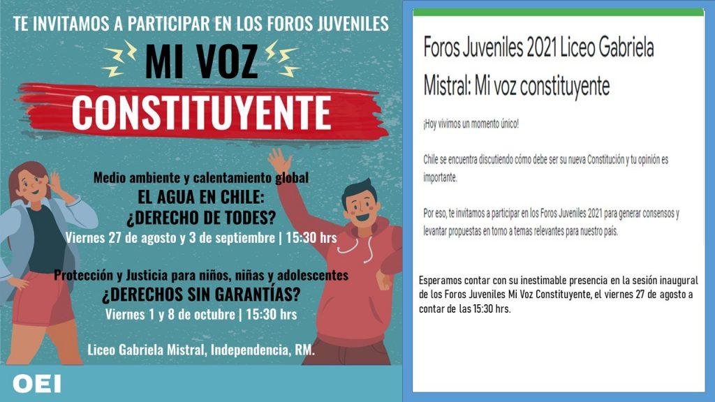 """Sesión inaugural de Foros juveniles mi voz constituyente"""""""